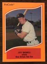 1990 Pro Cards #26 JEFF BAGWELL New Britain Red Sox RC HOF Card   A1018331