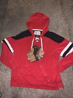 Men's Chicago Blackhawks CCM Hoodie Sweatshirt Sz L NHL Pro Sewn Logo Jersey