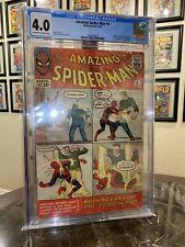 AMAZING SPIDER-MAN #4 CGC 4.0  1963 -MARVEL-STEVE DITKO-1ST SANDMAN