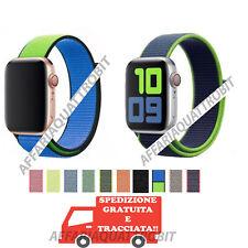 Cinturino Apple Watch Nylon 44/42/38/40 mm morbido strappo loop serie 6 SE 5 4 3