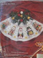 JANLYNN ROLY POLY TREE SKIRT -  STAMPED CROSS STITCH - RARE!