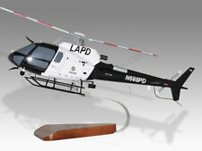 Aerospatiale AS350B3E Los Angeles Police LAPD Wood Display Helicopter Model