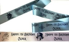 45mm width Pirate Theme PERSONALISED RIBBON for birthday cakes gifts decorations