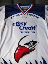 Original GAME-WORN-Jubel-Trikot Adler Mannheim #27 MacMurchy