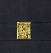 MONACO  prince Albert 1er  1f   noir sur jaune    num: 20  *   bc