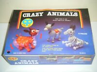 CRAZY ANIMALS Plastic Wind Up Toys Display Box (6 Total) MADE IN HONG KONG