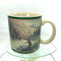Vintage Eddie Bauer Mug Fishing In The Wilderness Fishing In Lake Japan  Cup C37