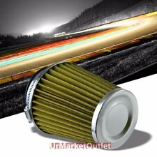 "3"" Yellow Round Tapered Cone Closed-Top Cool Air Filter For Shortram/Cold Intake"
