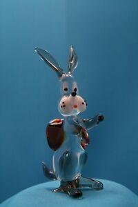 Glasfigur Hase Osterhase Ostern Tierfigur Figur aus Glas Glasobjekt Muranoglas