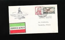 Mexico First Flight Interrupted 1929 Tejeria Aero Tapachula Backstamp Cover 9u