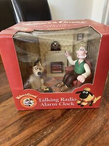 Vintage 1996 Wesco Wallace & Gromit Talking Radio Alarm Clock Boxed and Working