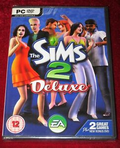 *New & Sealed* PC DVD-Rom Game THE SIMS 2 DELUXE Full UK Version