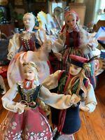 VINTAGE Lot OF HAND MADE FOLK ART DOLLS - PARA KRAKOWSKA, POLAND, V44 Lot 3