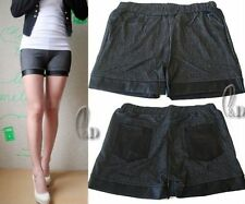 Faux Leather Hand-wash Only Low Rise Shorts for Women