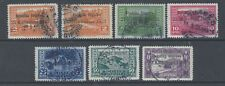 ALBANIA  1925 PROCLAMATION OF REPUBLIC SET OF 7 USED  SG 171/177