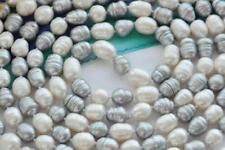 """new 18""""12-13mm natural south sea white gray pearl necklace da31"""