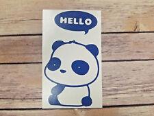 Cute Panda Hello Car Home Window Decal