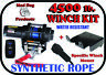 4500lb Mad Dog Synthetic Winch/Mount Kit for 2009-2013 Honda Big Red 700 MUV