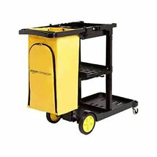 Commercial Janitorial Cart Black