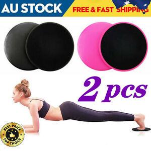 2x Gliding Sliding Discs Core Sliders Gym Yoga Fitness Exercise Workout Training