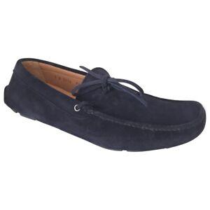 Prada Men's Navy Blue Suede Loafers 8.5UK and 42.5EU