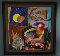 Tadeo Zavaleta - Latido De Mi Corazon-Signed Orig Oil Painting on Canvas W/COA
