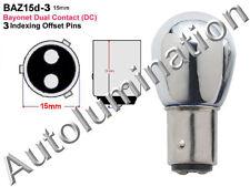 Yamaha Blinker Turn Signal Bulb Chrome Amber Dual Contact Baz15d-3 3 pin