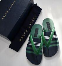 RALPH LAUREN PURPLE LABEL LAYTON Nappa Leather Sandals Thongs US-9.5D EUR-42.5