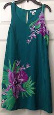 OLD NAVY Floral Dress PRETTY Green Purple Size XS NWT Sleeveless Tank