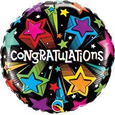 Congratulations Shooting Stars Foil Balloon Qualatex Helium