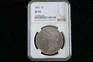 1892 Morgan Silver Dollar NGC XF45