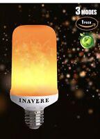 LED Flame Fire Flickering Effect Light Bulb 3 mode Emulation E26/E27 Base