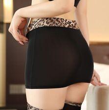 Lady Sheer Micro Skirt Hot Mini Short Party Club See Through Leopard Waist Tight