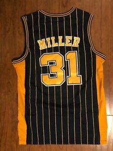 Men's Men's Indiana Pacers #31 Reggie Miller Pinstripe Jersey