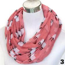 Women's Fashion Sheep Animal Print Scarf Winter Warm Shawl Wrap Stole 7 Colors