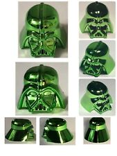 LEGO DARTH VADER HELMET CHROME GREEN GENUINE CUSTOM HIGHEST QUALITY MONOCHROME
