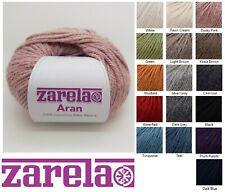 Zarela Aran Super Soft 100% Luxurious Baby Alpaca Yarn Wool - Variety of Colours