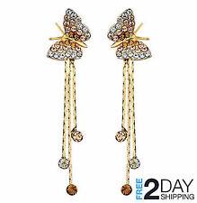 eaa3799d8917 Aretes Mariposas 14K Gold Pendientes Joyeria Fina Prendas de Moda De Oro  Mujer