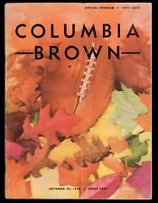 >1955 College Football Program: COLUMBIA LIONS vs BROWN UNIVERSITY Ivy League
