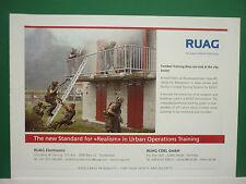 10/2007 PUB RUAG AEROSPACE DEFENCE SUISSE SWITZERLAND ARMY URBAN TRAINING ADVERT