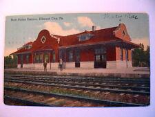 New Union Railroad Train Station in Ellwood City PA 1913