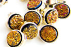 LOT 6 BOUTONS RONDS STRASS CRISTAL ORANGE A COUDRE COUTURE 10mm LAYETTE GILET