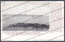 SIRACUSA CITTÀ Cartolina 7. Serie CASA DEI VIAGGIATORI - SPIAGGIA di ACRADINA