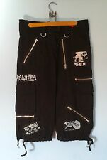 DIY PUNK 3/4 SHORT PANTS WOMEN'S LARGE GBH EXPLOITED ADICTS UK SUBS CRASS OI