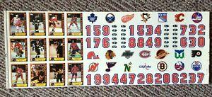 1988-89 Topps NHL Hockey Sticker Inserts Uncut Sheet ~ Gretzky, Lemieux, Roy+++