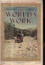 1912 World's Work January - Motor Trucks; Black Durham NC; Rodgers flies over US