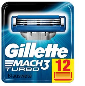 12 Gillette MACH3 Turbo Rasierklingen, 12er-Packung, Original Klingen neu/