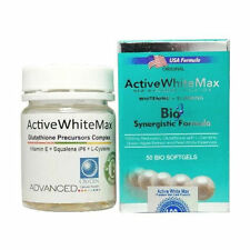 Active White Max Whitening 1150mg Softgels + FREE Glutathione Precursors Complex