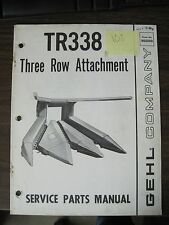 Gehl Service Parts Manual for Tr338 Three Row Attachment