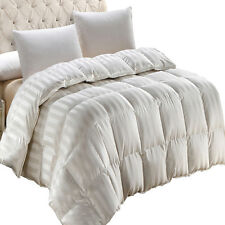Full/Queen Baffle Box Silk 900 TC Down Comforter, Warm Off-White Down Comforter